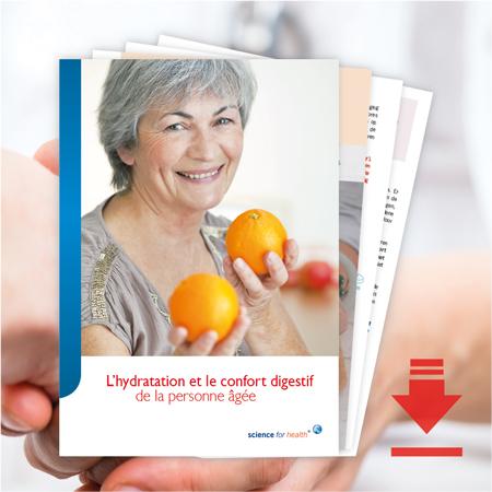 L'hydratation et le confort digestif de la personne agée