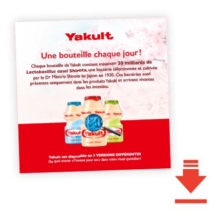 Yakult, une bouteille chaque jour
